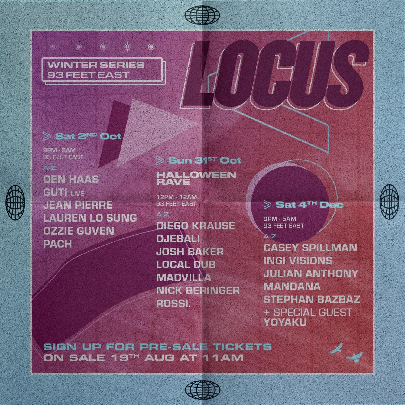 Locus: Winter Series - October - Flyer back