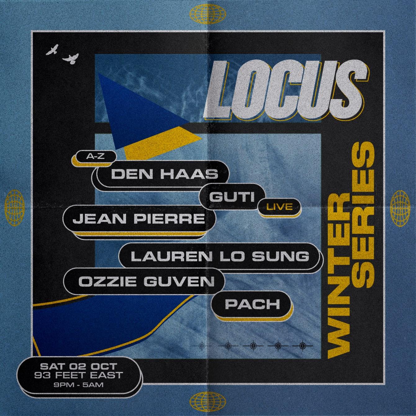 Locus: Winter Series - October - Flyer front