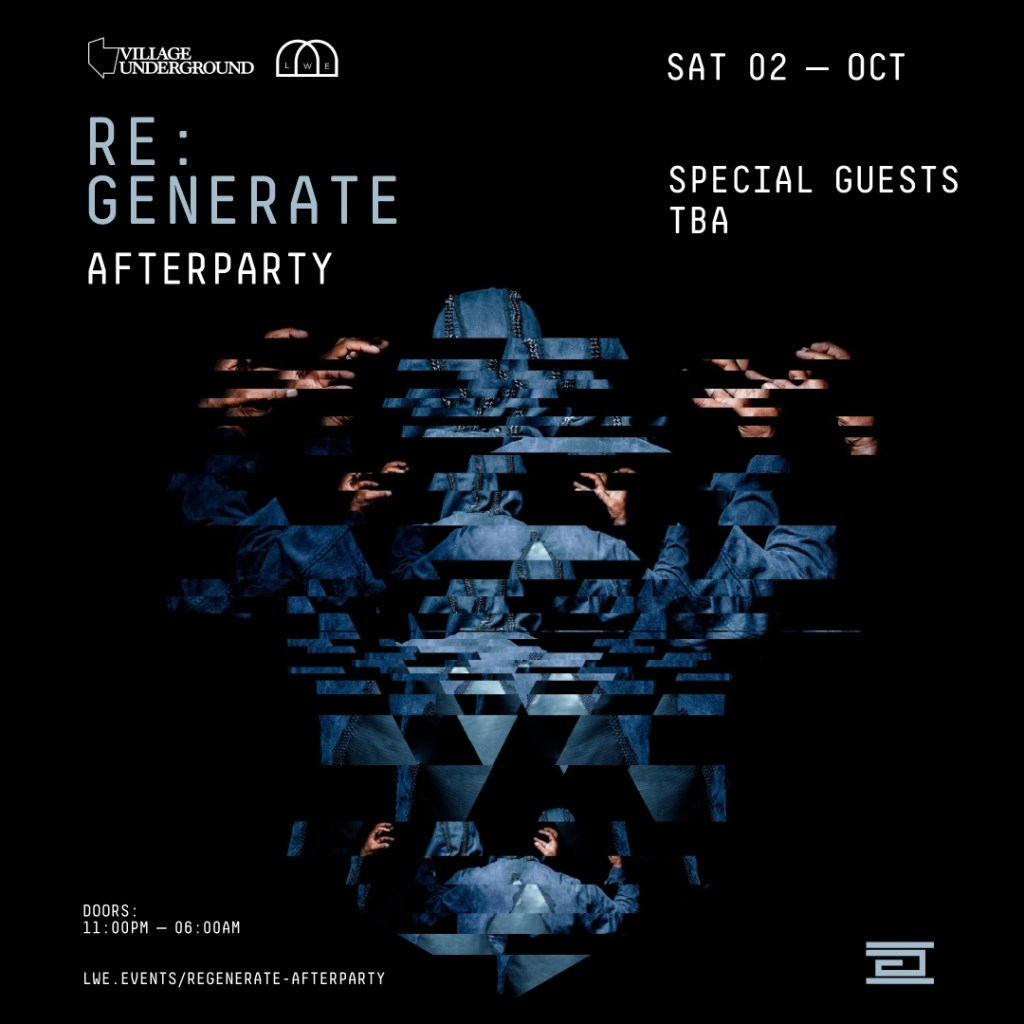 LWE presents RE:Generate Afterparty - Flyer front