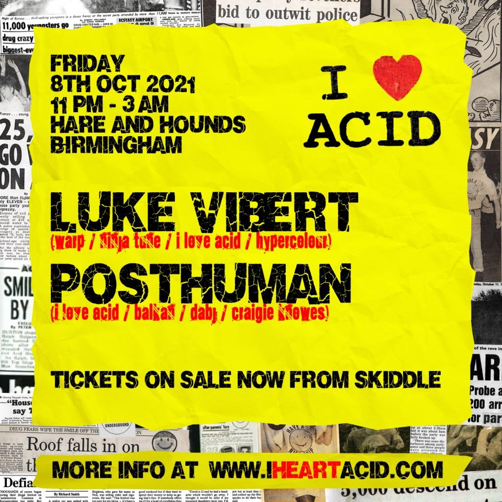 I Love Acid presents Luke Vibert - Flyer back