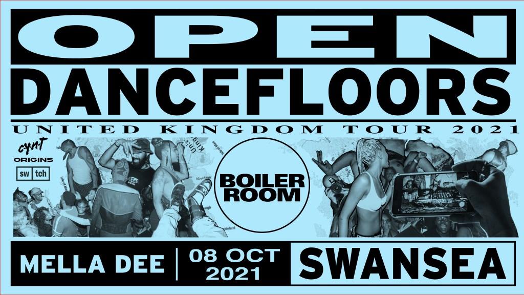 Boiler Room: Swansea - Open Dancefloors UK Tour - Flyer front
