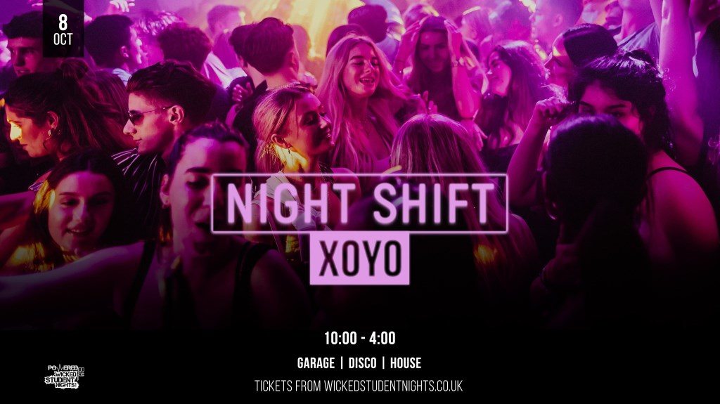 Night Shift Rave @ XOYO // Friday 8th Oct // Open till 4am - Flyer front