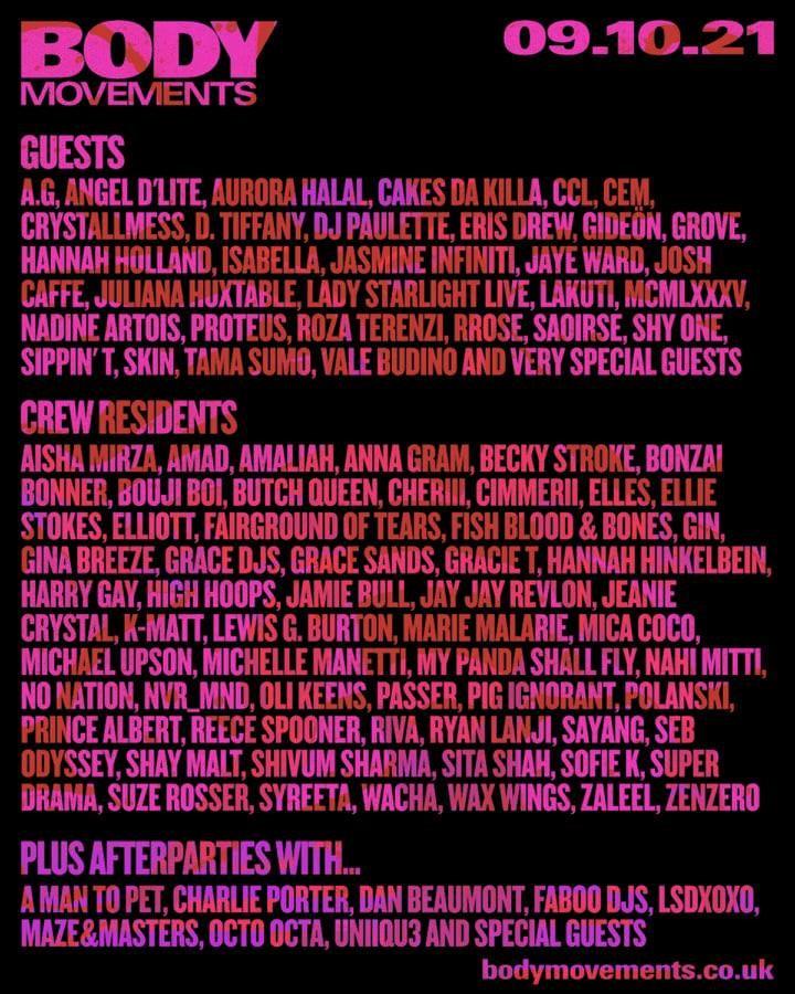 Body Movements Festival - Flyer front