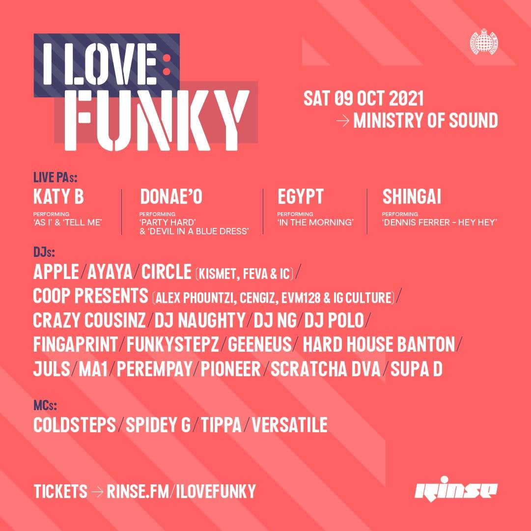 Rinse presents - I Love: Funky - Flyer back