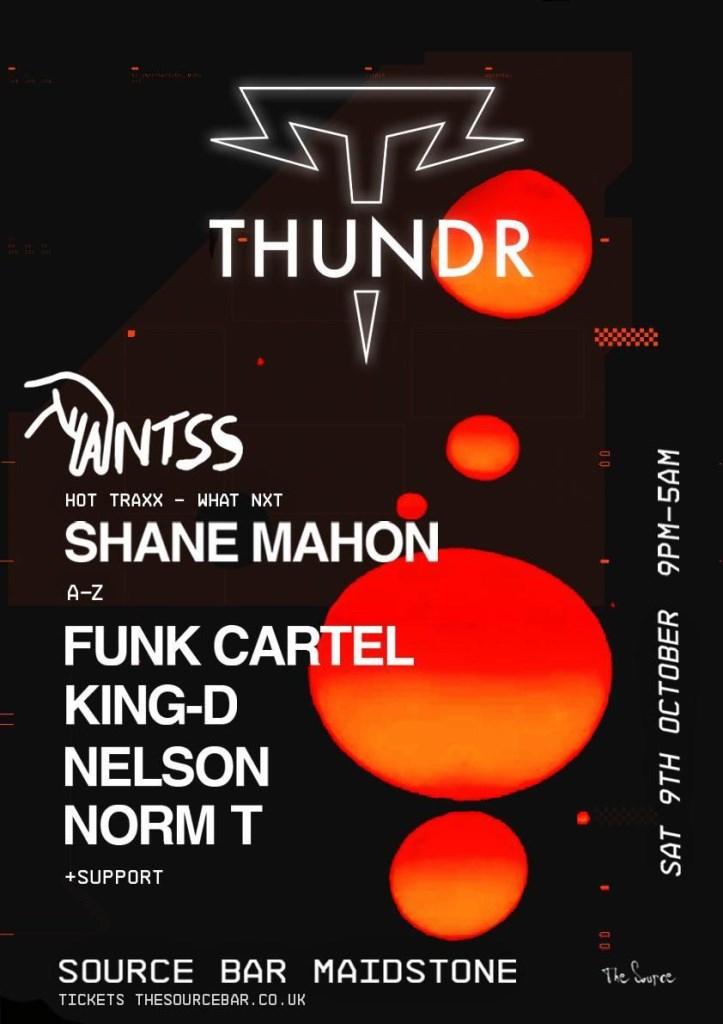 THUNDR Presents Antss, Shane Mahon & More - Flyer front