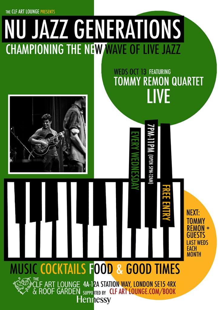 Nu Jazz Generations with Tommy Remon Quartet (Live), Free Entry - Flyer back
