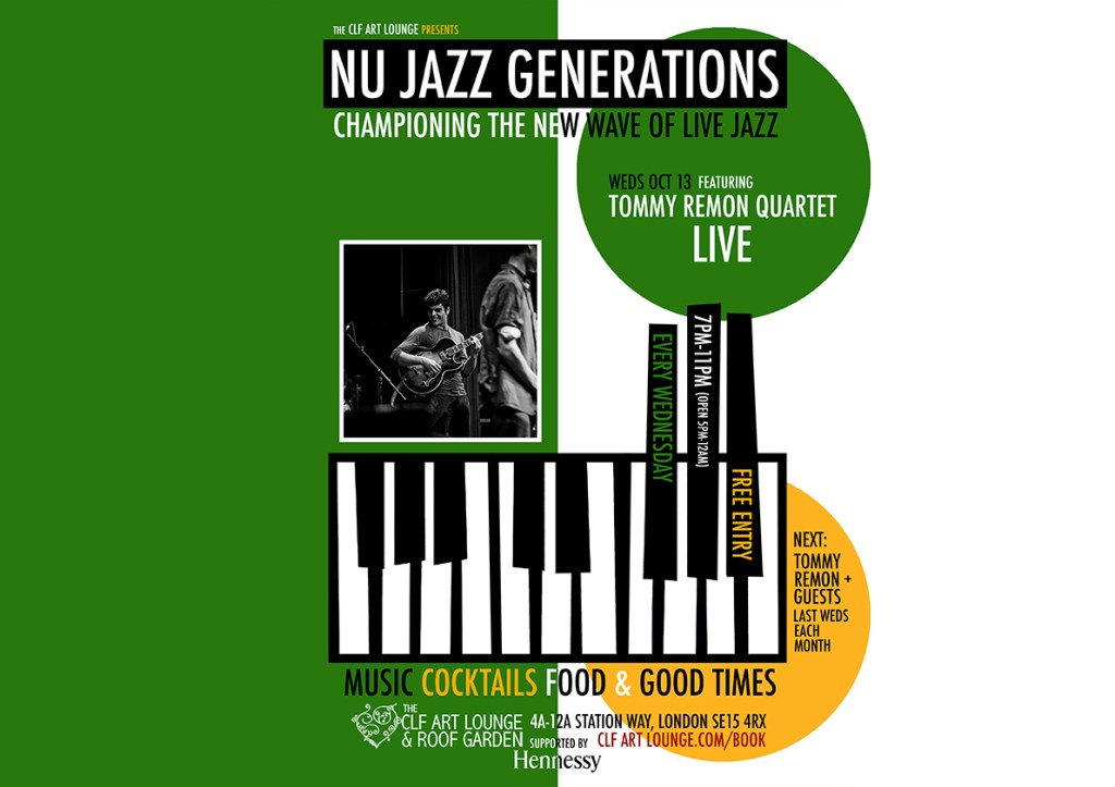 Nu Jazz Generations with Tommy Remon Quartet (Live), Free Entry - Flyer front