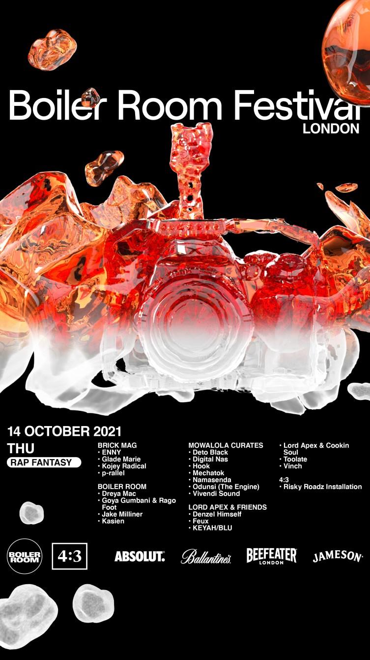 Thu: Rap Fantasy I Boiler Room Festival London - Flyer front