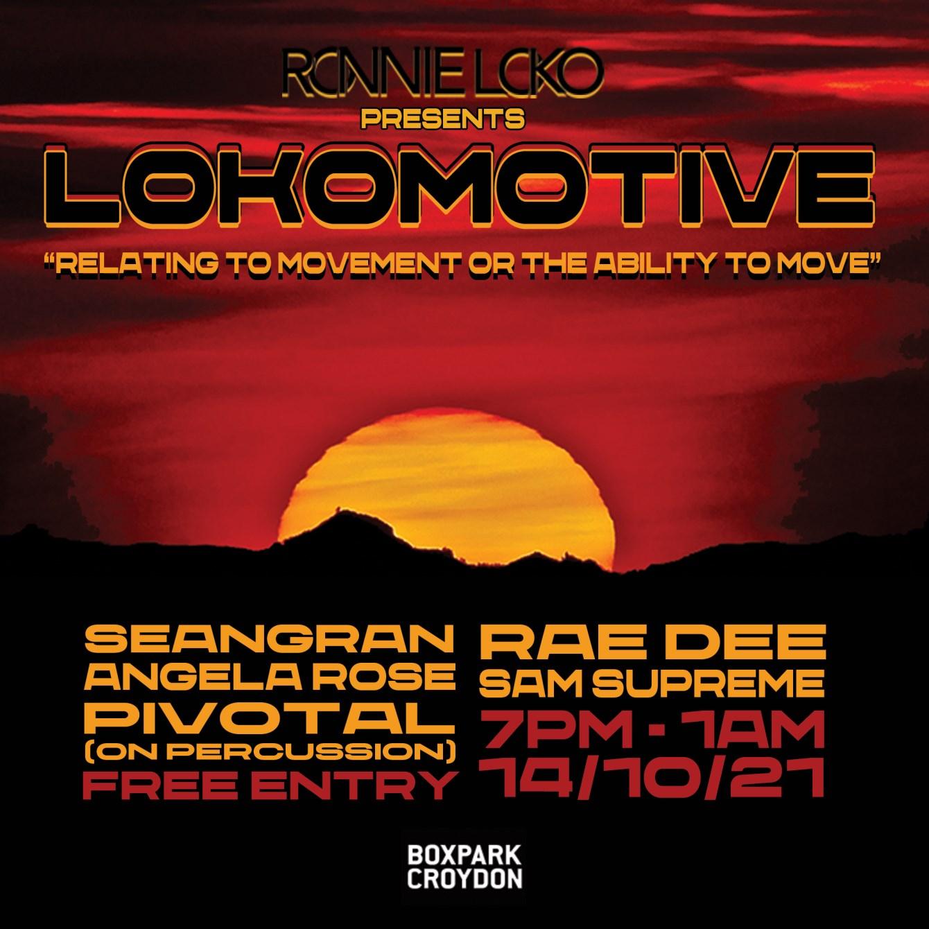 Ronnie Loko presents Lokomotive - Flyer front