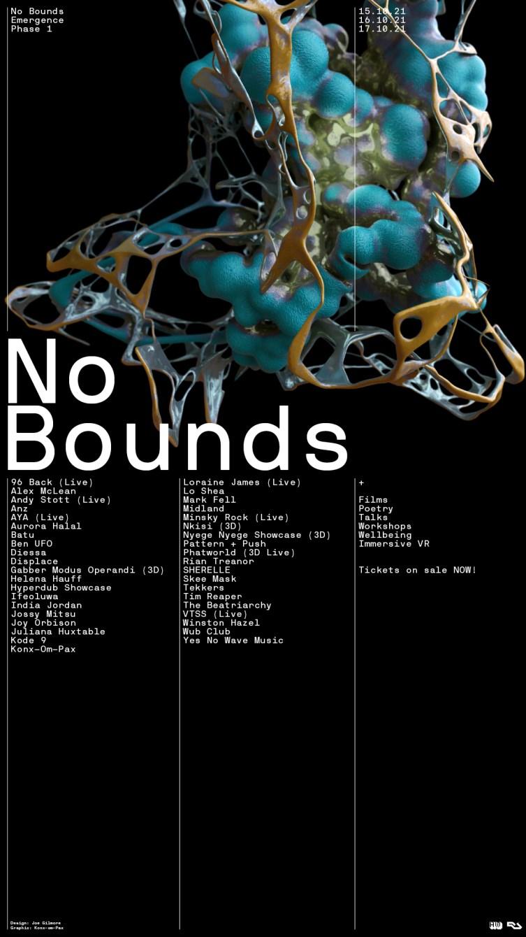 No Bounds Festival 2021 - Flyer back