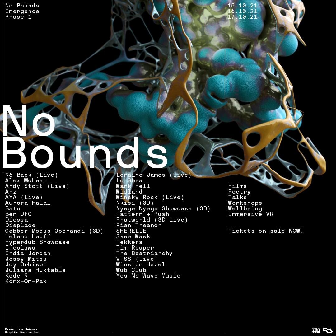 No Bounds Festival 2021 - Flyer front