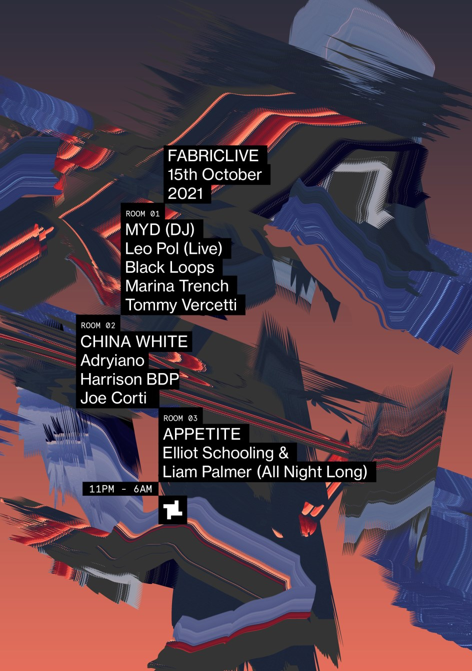 FABRICLIVE: MYD, Leo Pol, Black Loops, Adryiano, Harrison BDP & More - Flyer front