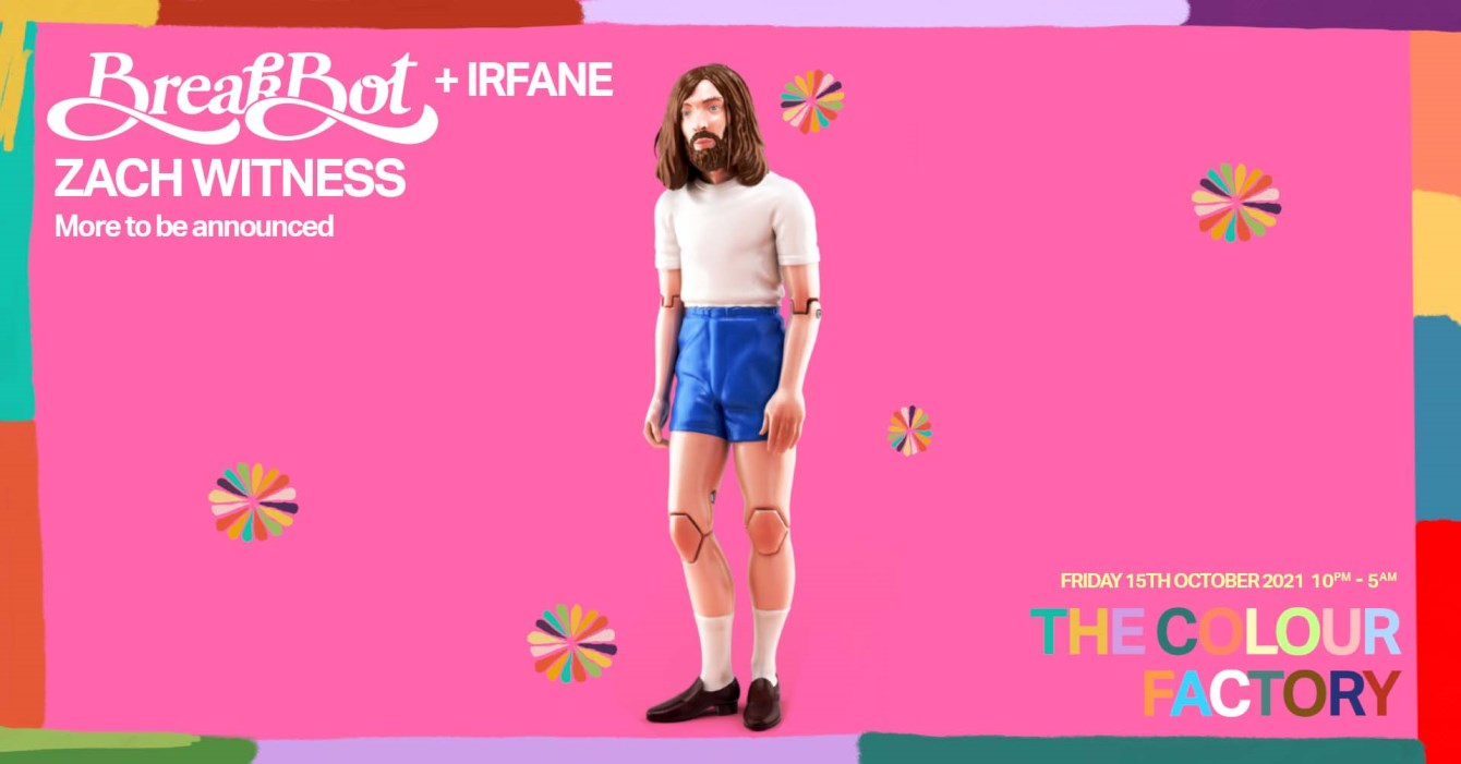 Breakbot at Colour Factory - Flyer front