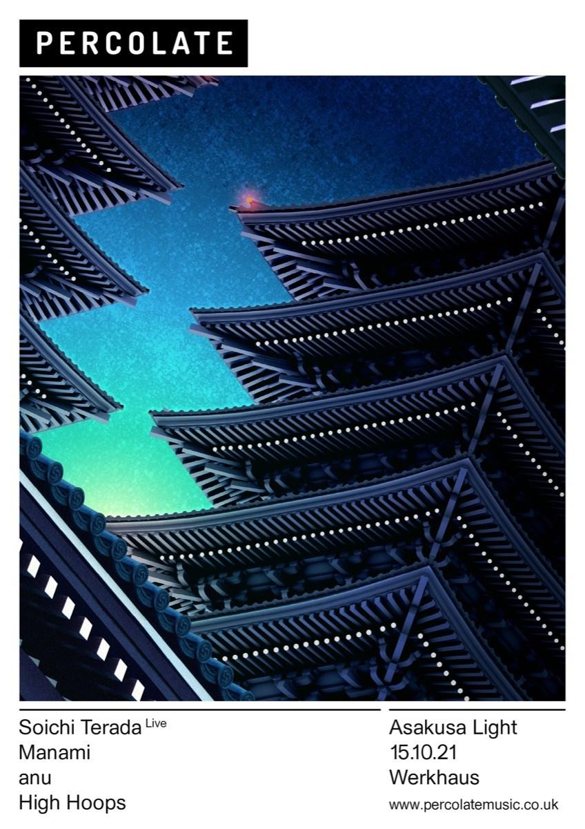 Percolate presents: Soichi Terada Live, Asakusa Light Tour - Flyer front