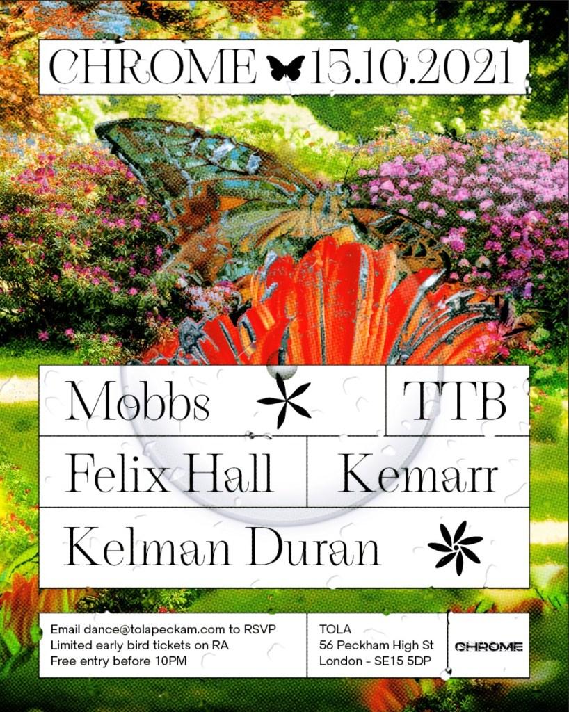 Chrome: Kelman Duran + TTB + Kemarr + Mobbs + Felix Hall - Flyer front