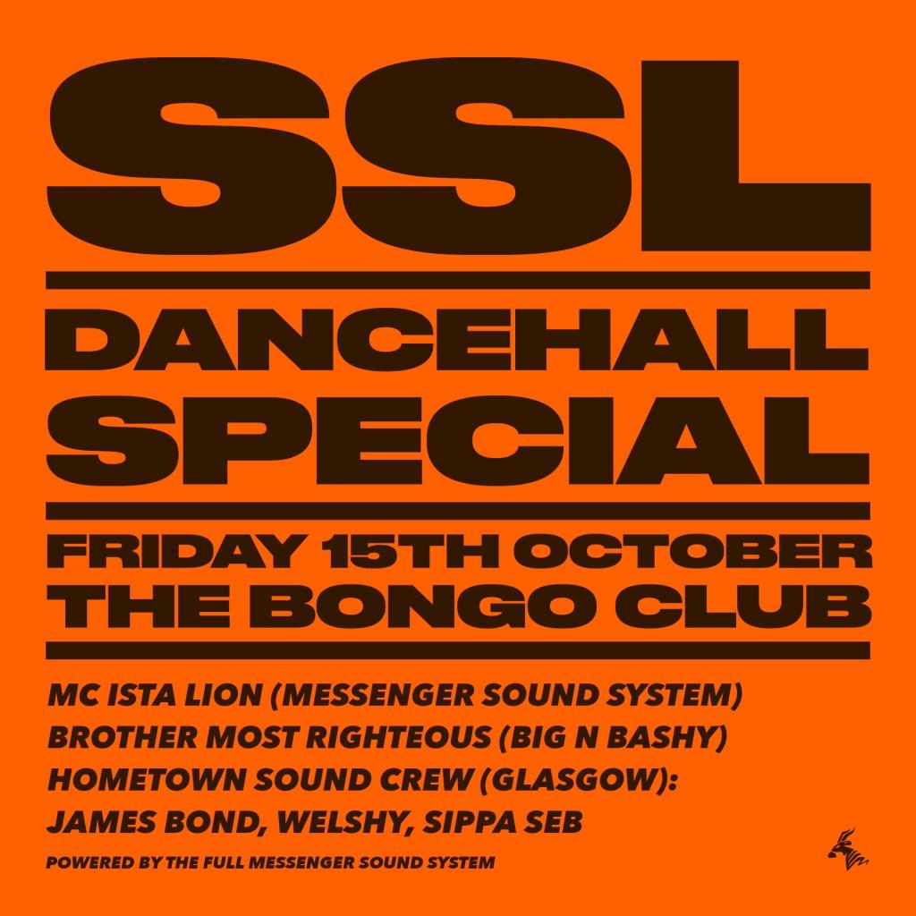 SSL Dancehall Special - Flyer front
