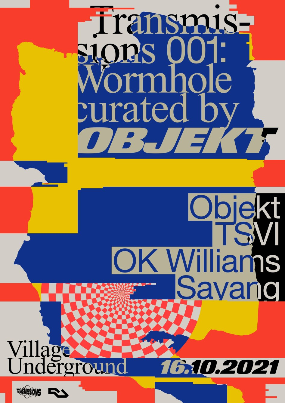 Transmissions: Wormhole Curated by Objekt - Flyer front