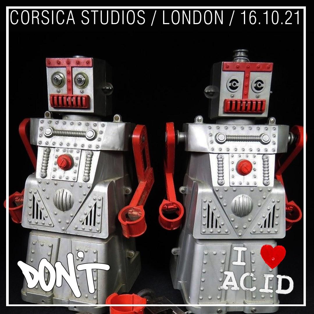 Don't -vs- I Love Acid - Flyer front