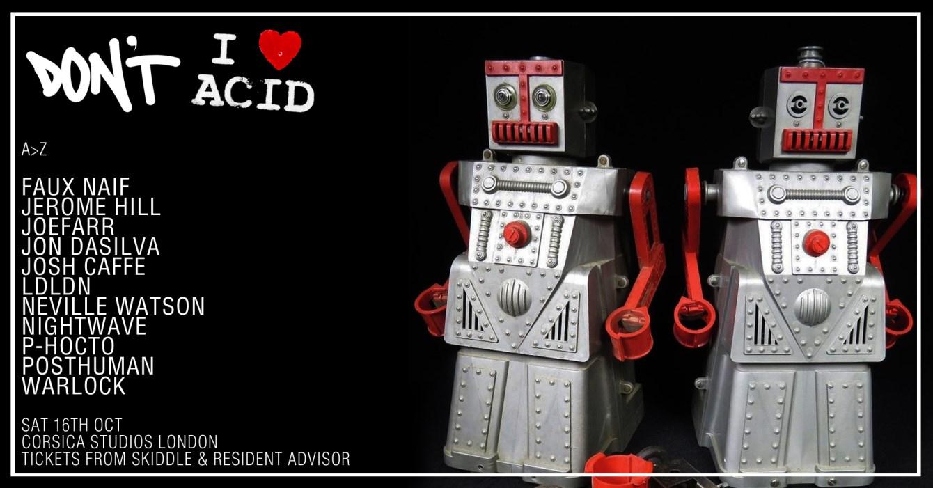 Don't -vs- I Love Acid - Flyer back