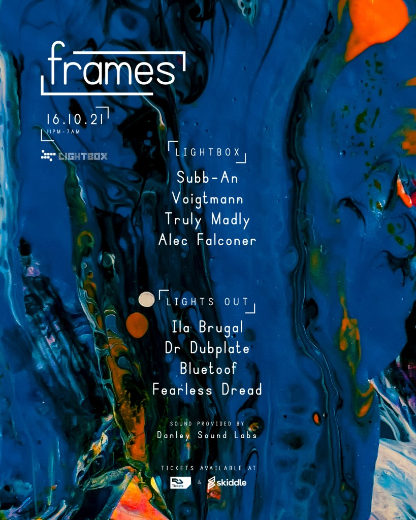 frames w/ Subb-An, Voigtmann, Truly Madly, Alec Falconer & More - Flyer back