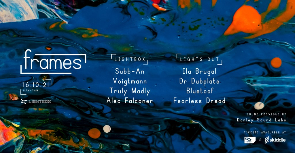 frames w/ Subb-An, Voigtmann, Truly Madly, Alec Falconer & More - Flyer front