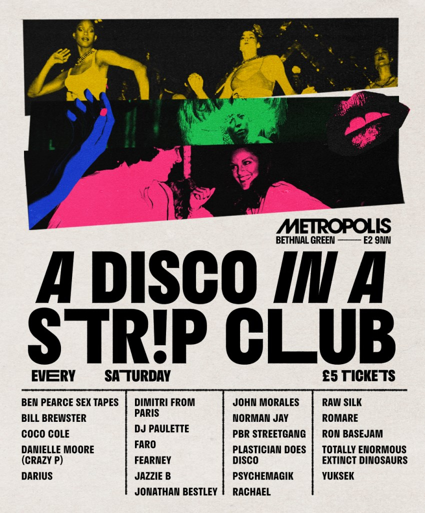 A Disco in a Str!p Club - Flyer front