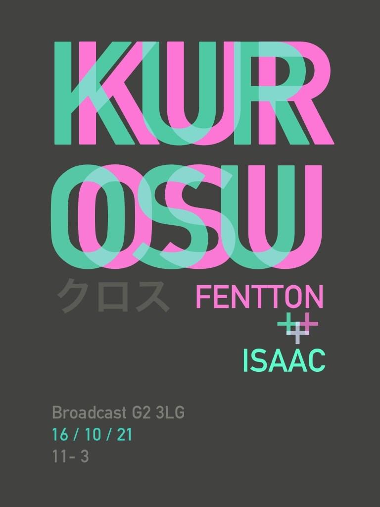 Kurosu: Fentton x Isaac - Flyer front