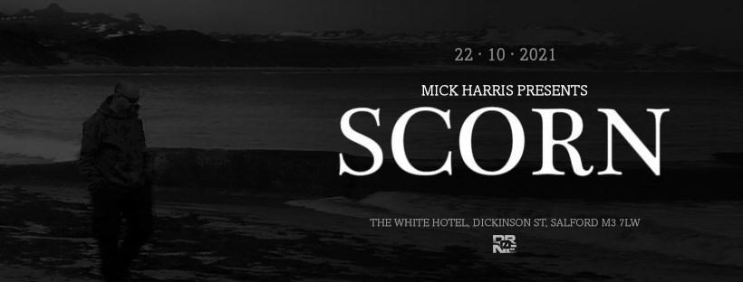 Drøne: Mick Harris presents Scorn Live with Colossloth, Proteus DJ Set - Flyer front