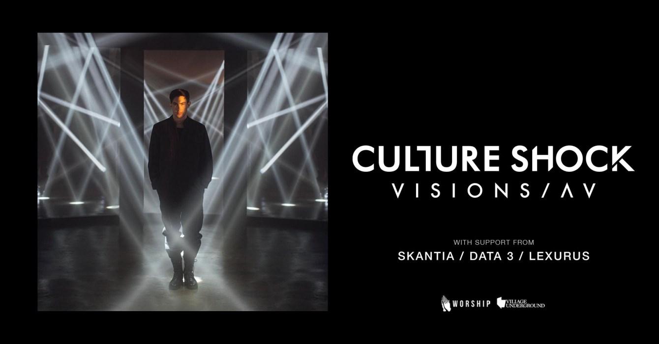 Culture Shock presents Visions / AV - Flyer front