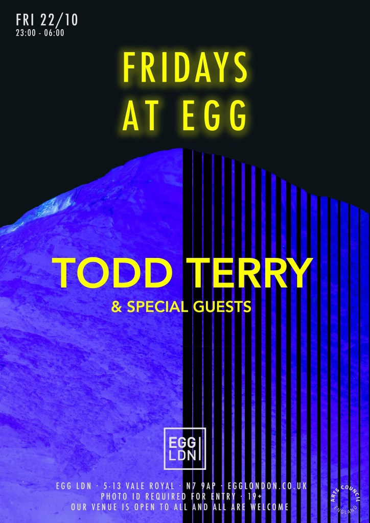 Fridays at EGG: Todd Terry + Special Guests - Flyer front