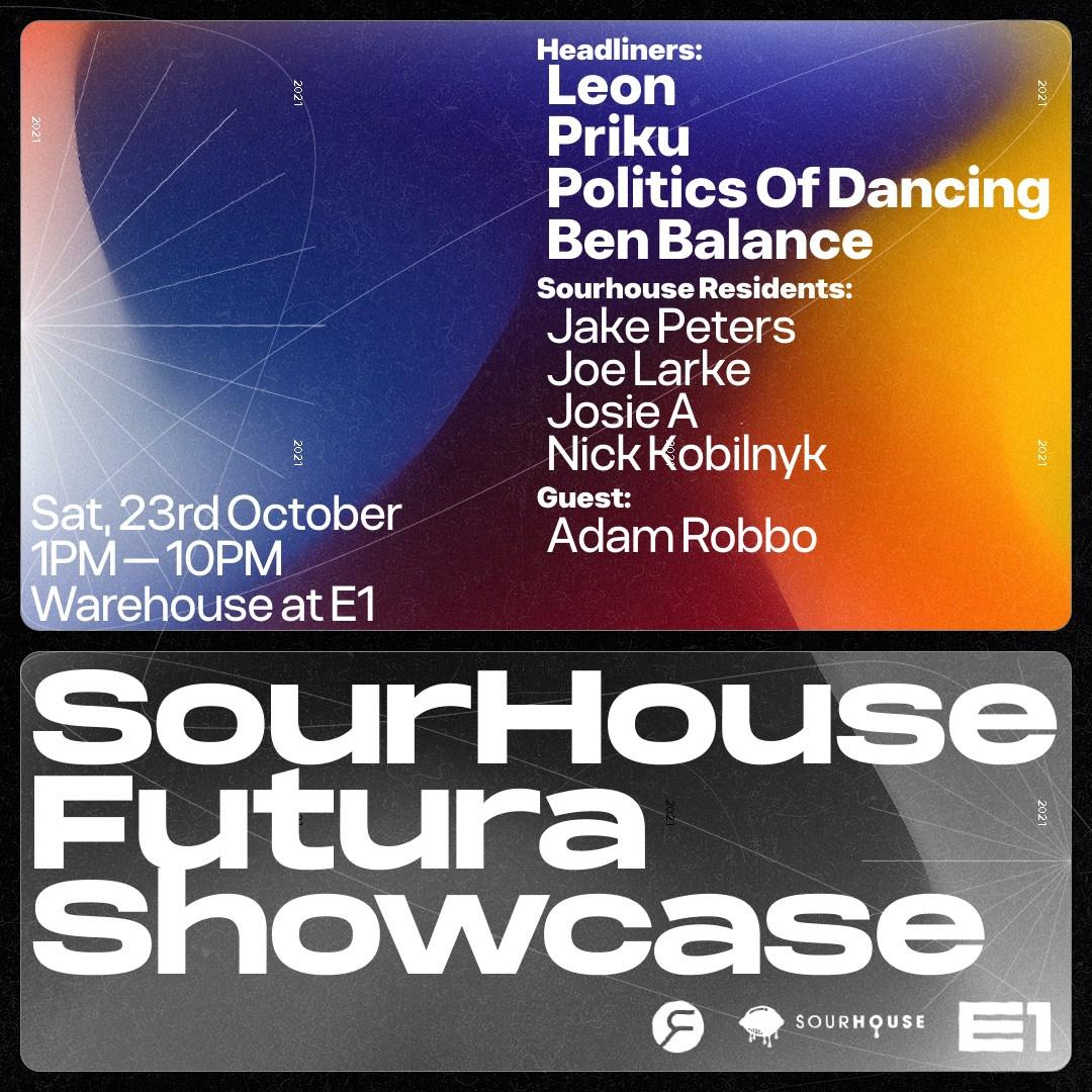 Sourhouse presents: Futura Showcase - Flyer front