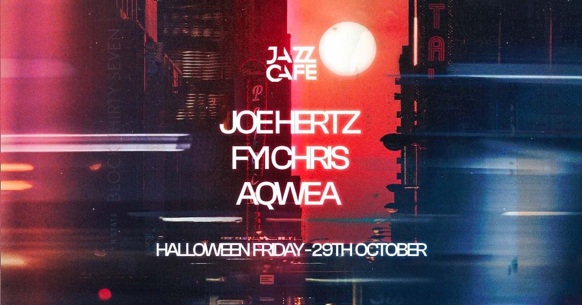 Halloween: Joe Hertz + FYI Chris + Aqwea - Flyer front