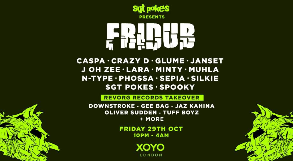 Fridub Halloween: A Monstrous Carnival Of Bassweight - Flyer front