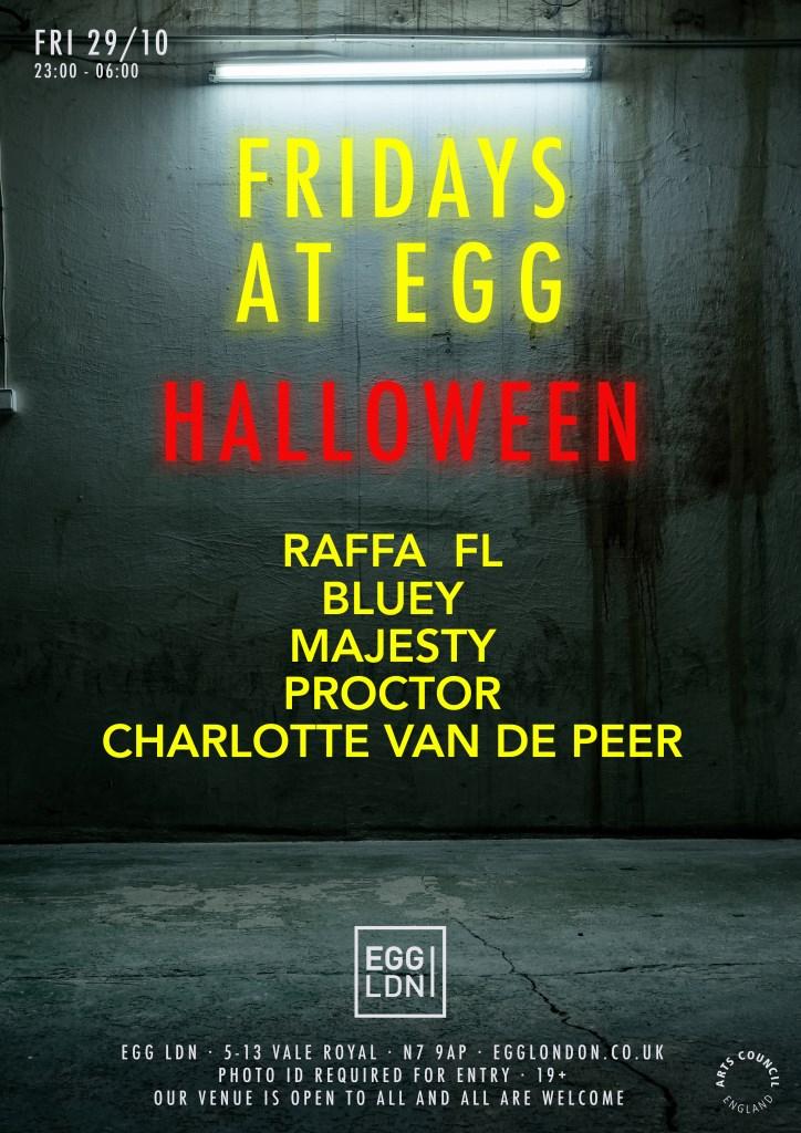 Fridays at EGG: Raffa FL, Bluey, Majesty  - Flyer front