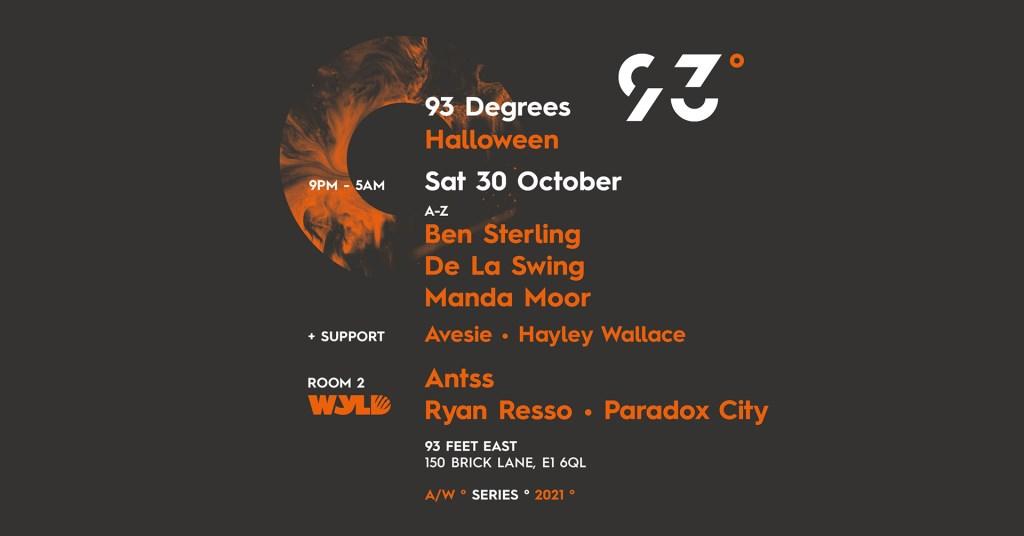 93° Degrees: Halloween - Flyer front