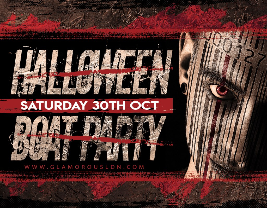 Glamorous LDN Halloween Boat Party - Flyer front