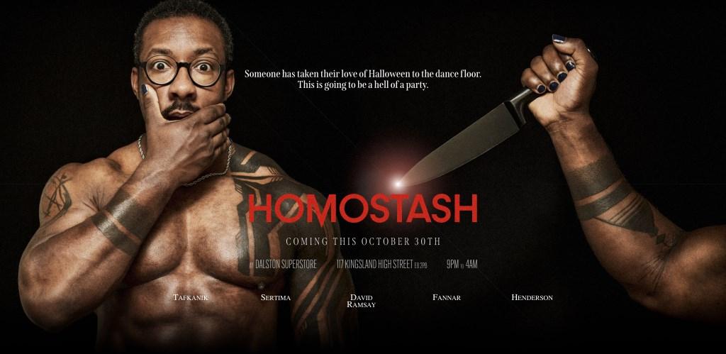 Homostash Halloween - Flyer back