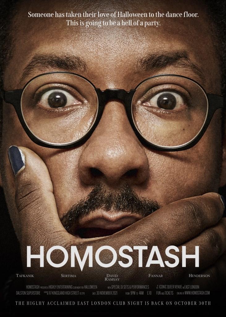 Homostash Halloween - Flyer front