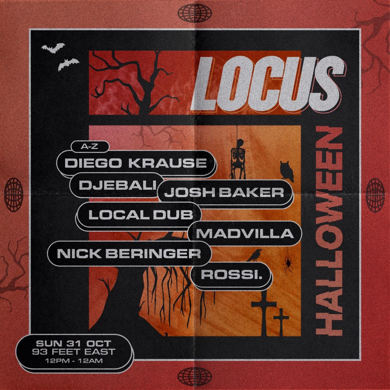 LOCUS: Halloween Rave - Flyer front