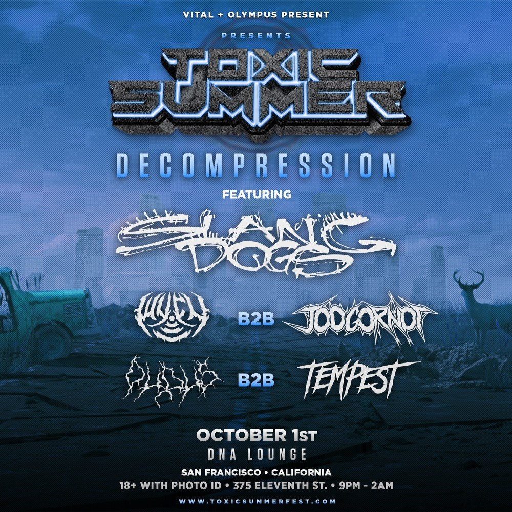 Toxic Summer: Decompression - Flyer front