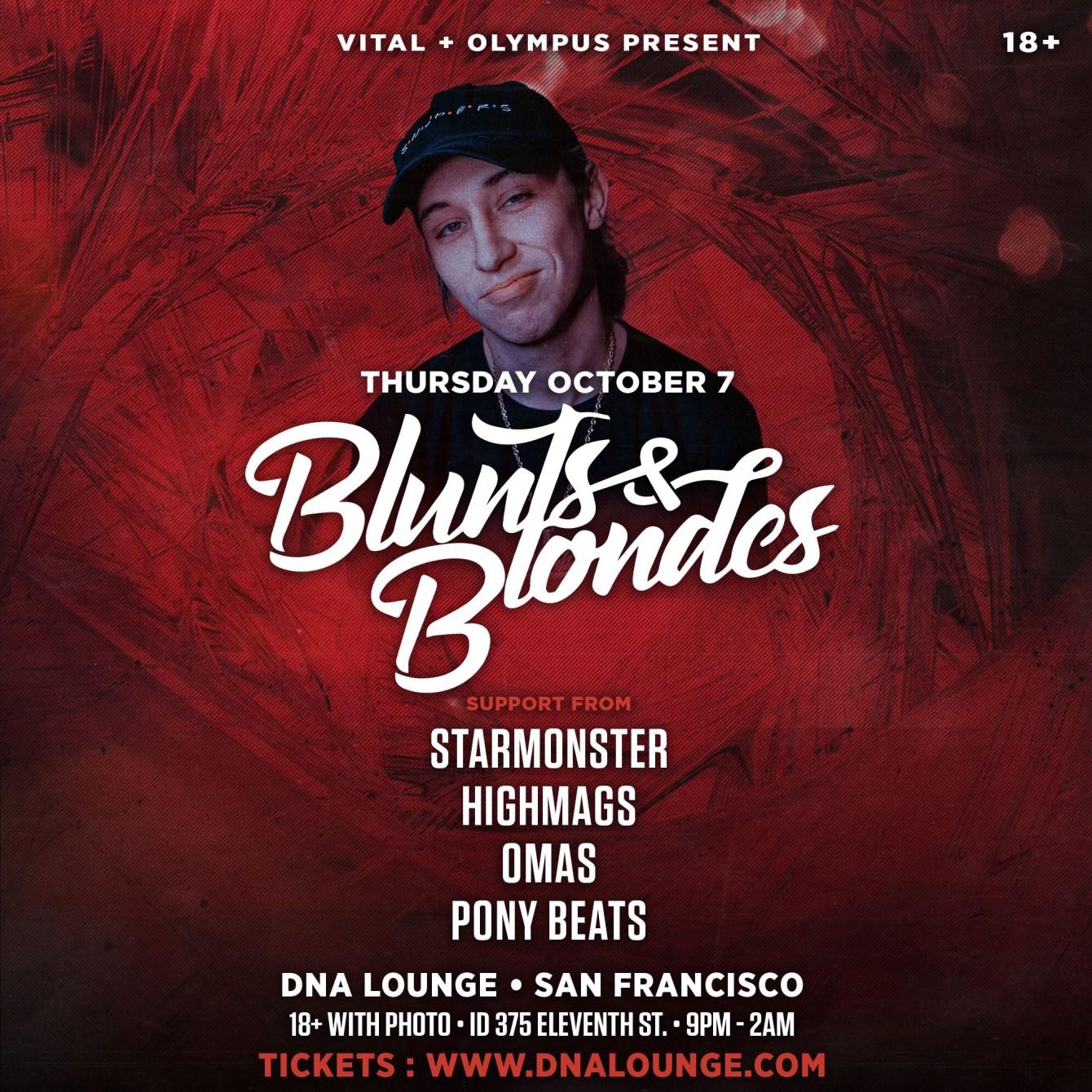 Blunts & Blondes Live @ DNA Lounge - Flyer front