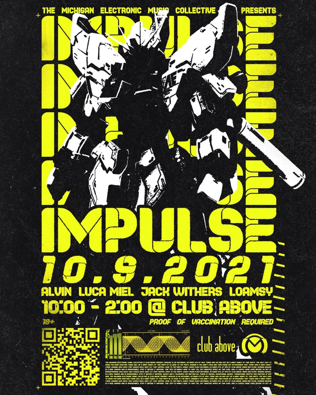 Memco presents Impulse 01 - Flyer front