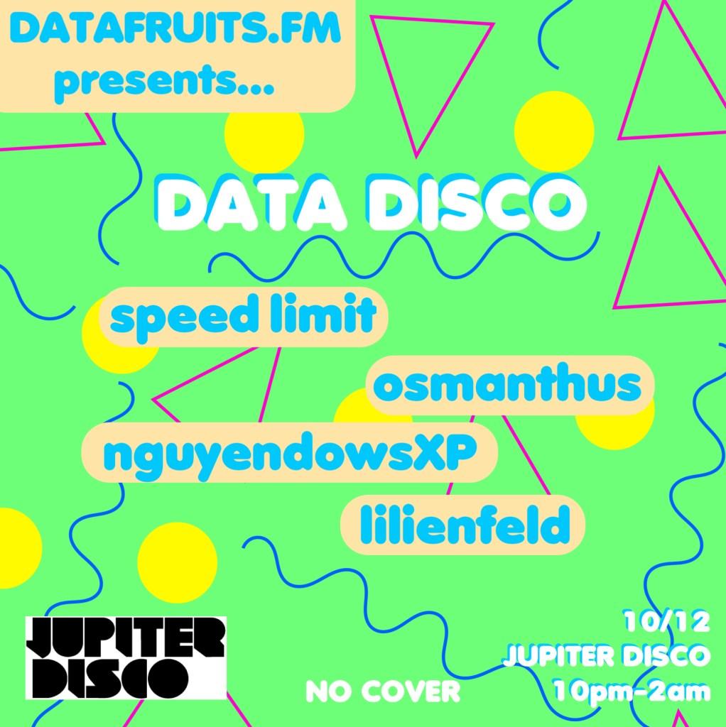 datafruits.fm presents Data Disco - Flyer front