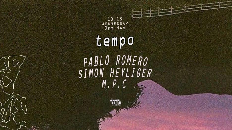 Tempo: Pablo Romero, Simon Heyliger, M.P.C - Flyer front
