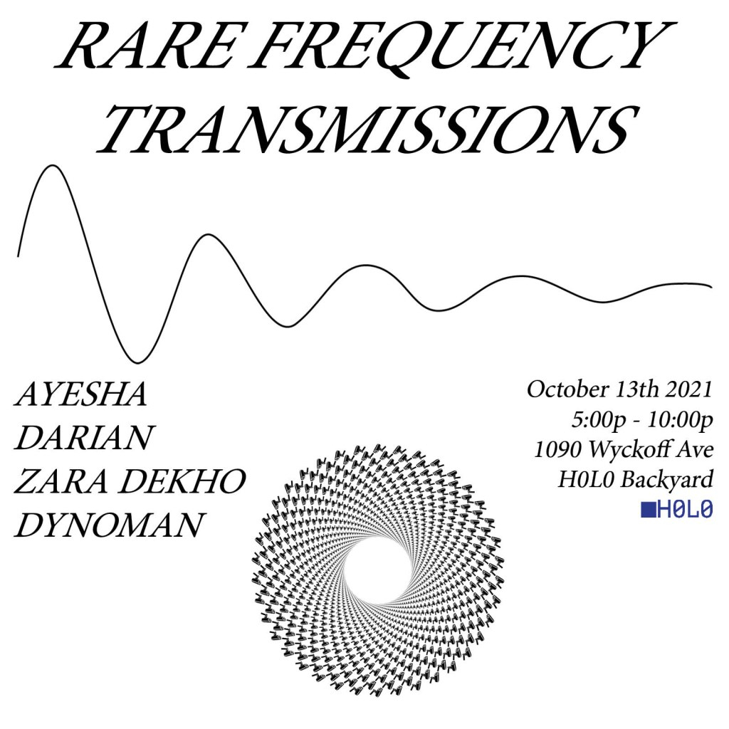 Rare Frequency Transmissions Backyard Function - Flyer front