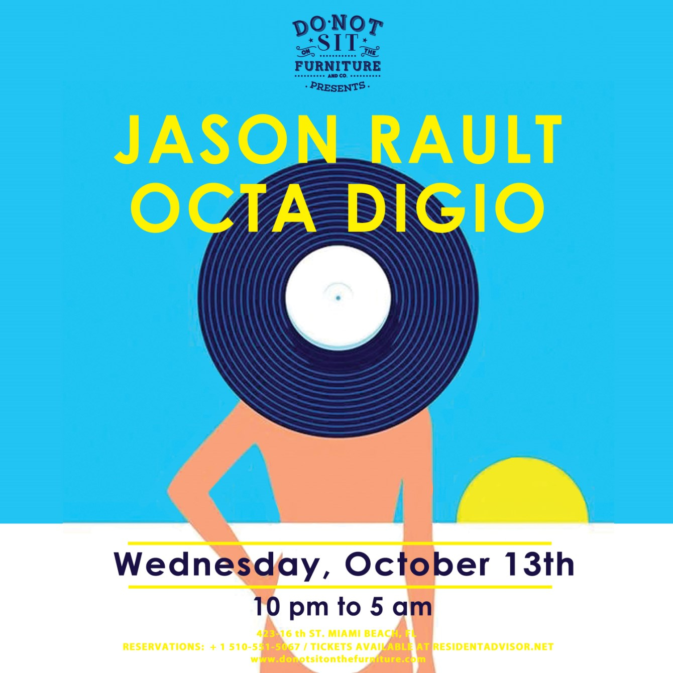 Jason Rault and Octa Digio - Flyer front