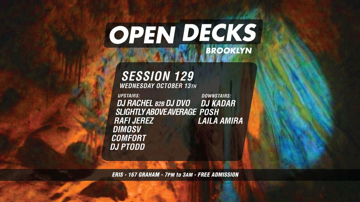 Open Decks Session 129 - Flyer front