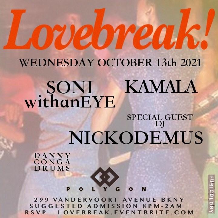 Lovebreak! with Nickodemus - Flyer front
