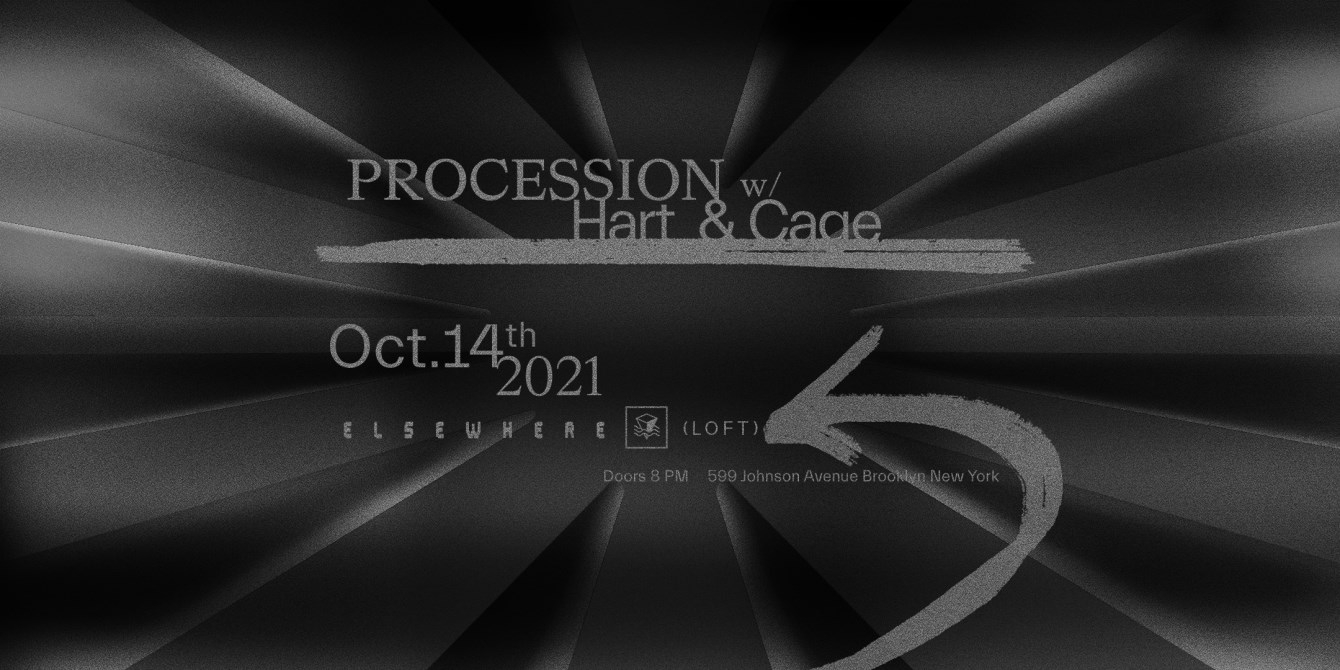 Procession with Hart & Cage - Flyer front