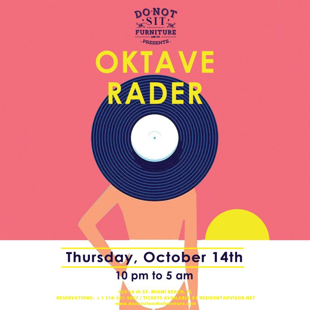 Oktave and Rader - Flyer front